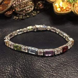 Jewelry - Beautiful natural gem & CZ tennis bracelet